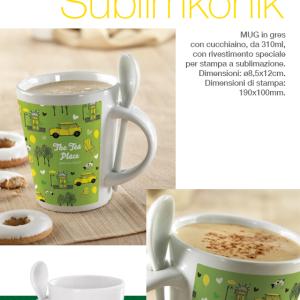 Mug con cucchiaino Sublimkonik