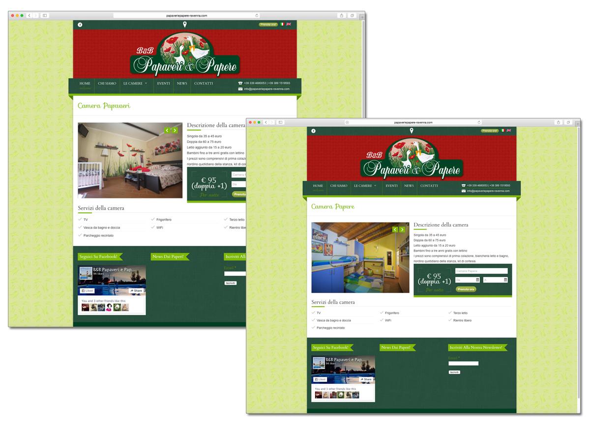 B&B Papaveri e Papere sito web ed immagine coordinata